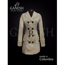 Gabán Chaqueta Abrigo Mujer Trench Coat Ganesh