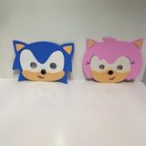 Máscara Sonic E Amy Eva 20 Unidades