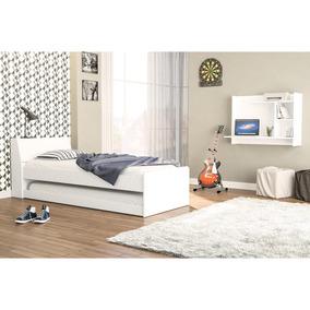 Bicama Com Escrivaninha Suspensa Office Siena Móveis Branco