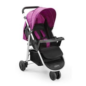 Carrinho Bebê Multikids Baby 3 Rodas Agile Bordô Bb528 Trava