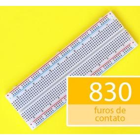 Protoboard Breadboard De 830 Pontos Furos Arduino Envio Hoje