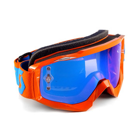 Antiparra Hustle Motocross Orange Chrome Espejada Scott