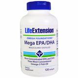 Omega 3 +concentrado - Mega Epa/dha - Life Extension-120soft