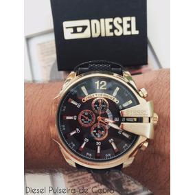 Relógio Diesel Pulseira De Couro.