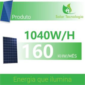 Kit 4 Placa Solar - Placa & Micro Inversor - Sistema On Grid