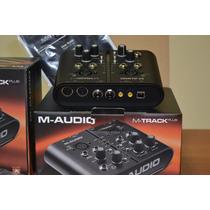 Placa Interface M Audio M Track Plus 2x2 Canais Usb