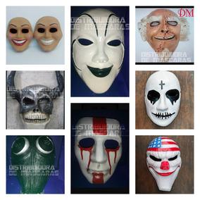 Máscaras De La Purga, Tios Sam/cruz/kissme/payday Y Más..