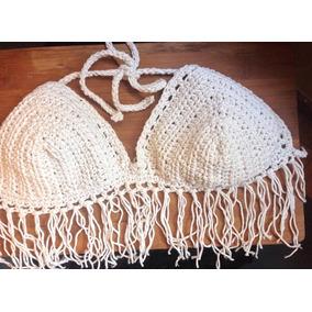 Crop Top, Bralette,bikini Tejida En Crochet