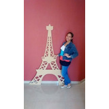 Torre Eiffel 15 Años Matrimonio Mdf Crudo 1,7mts Altura