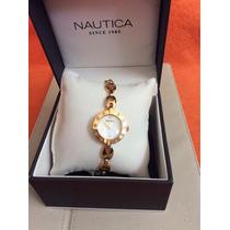 Reloj Náutica Para Caja Y Extensible En Acero Rosa.