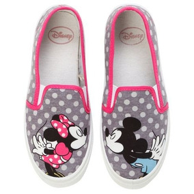 Minnie & Mickey Kiss Tenis Flats Slip On Disney Talla 25 Mx