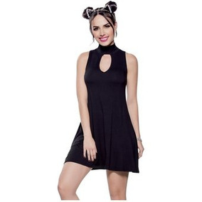 cc9714e0e55d9 Femenina Ropa Vestidos Cortos Vestido Corto Manga Larga - Ropa y ...