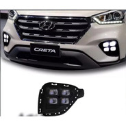 Kit Farois Milha Neblina Hyundai Creta Led Drl 17 2018 9 Pcd