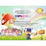 Plantillas De Diploma Preescolar + Libro De Powerpoint