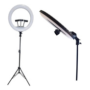 Iluminador Ring Light Rl18 Bicolor Completo Com Sup. Cel