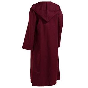 Hombres Tunic Hooded Robe Capa Caballero Disfraz Cool W33