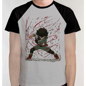 Boku No Hero Academia Izuku Camiseta Camisa Blusa Anime