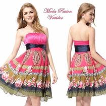 Vestido Corto Multicolor Verano 2017 Importados Moda Pasión
