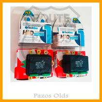 Kit Lâmpada Super Branca H7 100w + H1 100w + 2 Relês Duplos