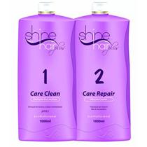 Kit Escova Progressiva Shine Hair Plus Shampoo + Progre 1l