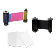 1 Ribbon Negro + 1 Ribbon Color + Tarjetas Blancas Pvc - Idp