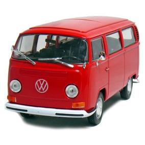 1972 Volkswagen Autobús Van T2 Crema 124 Diecast Coche Mode
