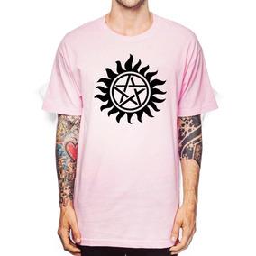 Camiseta Supernatural Pentagrama Sobrenatural Cores