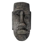 Máscara Isla De Pascua Moai Decoración Antigua Adorno