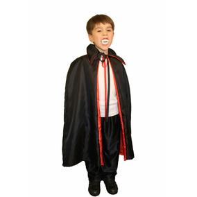 Capa Dracula, Diablo, Mago Para Nenes - Disfraz Halloween -