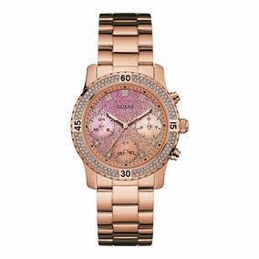 Reloj Guess W0774l3 Oro Rosa Brillantes Para Dama Original*