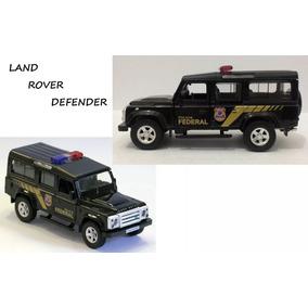 Miniatura Land Rover Defender Polícia Federal De Metal