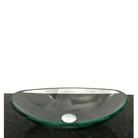 Kit Com Cuba Vidro Incolor Oval,válvula Click E Sifão