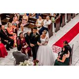 Vestido De Noiva Com Cinto, Veu E Tiara Usado Uma Vez