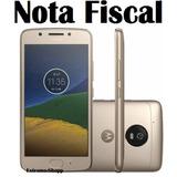 Cel. Moto G5- 3gb 16gb Dourado Original C/ Fone De Ouvido+nf