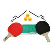 Kit Raquetes Bolinhas Suporte Rede Tênis Mesa Ping Pong 4855