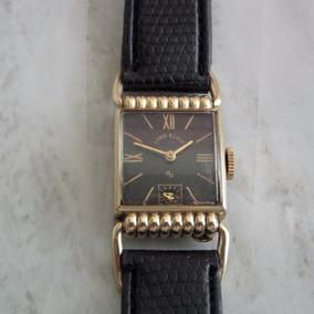 Reloj Lord Elgin Caja Hechurada Lamina De Oro Coleccion