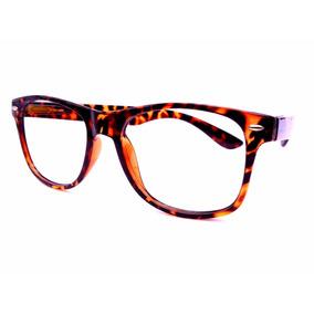 Armação Óculos Tartaruga Onça Leopardo Lentes Transparentes