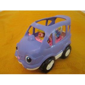 Carro Familiar Fisher Price Little People Con Dos Pasajeros