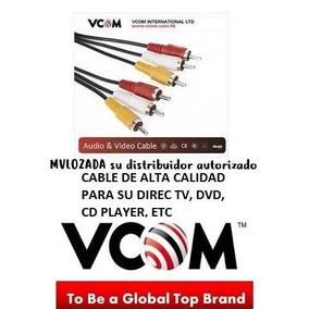 Cable Rca 1.8 Mts Vcom Macho Macho, Direct Tv Dvd Cd Player