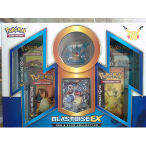 Blastoise Pokemon Red & Blue Collection Box + 4 Generations