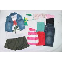 Lote 15 - Roupa Infantil Menina - Tam 8 (18 Peças)