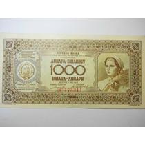 Yugoslavia 1000 Dinares Fecha 1946