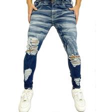 Calça Rasgada Masculina Jeans Super Skinny Varias Cores Br