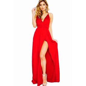 Vestido Longo Festa Formatira Vermelho Tipo Gorata Verão