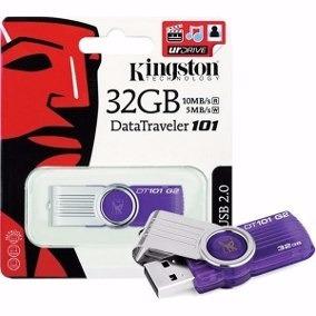 Pen Drive Kingston 32 Gb Dt101 2.0 Lacrado Promoção
