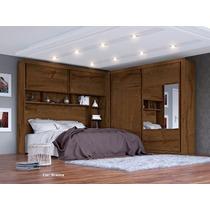 Dormitório Casal Conjugado Firenze Mdf,espelho- Europa
