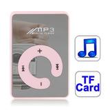 Mp3 Compacto Con Clip Espejo Ranura Para Micro Sd(rosado)