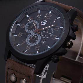 Relógio De Pulso Masculino Luxo Liandu Social Pulseira Couro