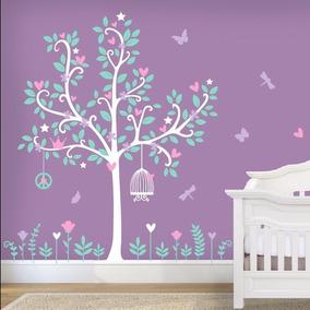 Vinilos para pared arbol de cerezo vinilos decorativos for Vinilos para nenas