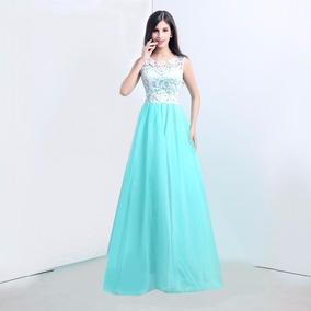 Lindo Vestido- Renda C/ Cetim Laço - Festa Noite Casamentos